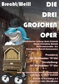 Plakat Dreigroschenoper 2019©Geschwister-Scholl-Gymnasium